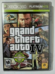 Grand Theft Auto IV 4 (GTA 4, XBOX 360 With Map)
