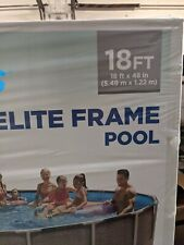 """Above Ground Framed Swim Pool 18ft Wide X 48"""" Inches High + Ladder Filter Pump"""