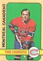 1972-73 Topps Hockey Set Break Yvan Cournoyer Montreal Canadiens #10