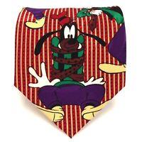 """Disney Tie Mickey Unlimited Goofy Multicolor Striped Novelty Cartoon Necktie 57"""""""