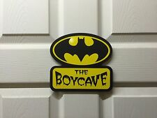 Personalised Batman Boycave Mancave door sign plaque Batcave Man Cave