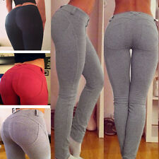 Womens Skinny Jeggings Jeans Stretch Pencil Pants High Waist Sexy Trousers K42