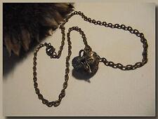 COLLIER Pendentif Boîte à secrets avec chaîne Bronze Ras du cou coffre à trésor