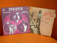2 VINYLS 45 T – CHRISTIE : YELLOW RIVER + SAN BERNADINO – US PSYCH POP HIPPIE