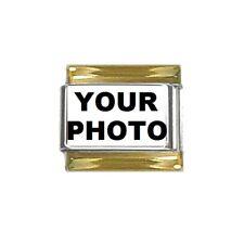 9mm Italian Charm Gold Tone Bracelet Link Custom Personalized Picture Photo Logo