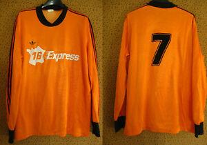 Maillot Adidas Ventex Express Orange 70'S porté #7 Foorball manche Longue - L