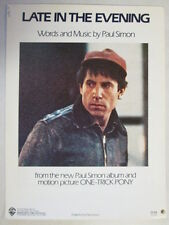 PAUL SIMON LATE IN THE EVENING ORIGINAL VINTAGE SHEET MUSIC - ONE TRICK PONY LP