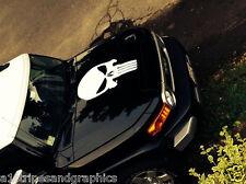 LRG Skull HOOD decal Graphics fit all car truck Ram F150 JEEP F350 F250 Tacoma