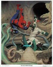 AMAZING SPIDERMAN vs LIZARD ORIGINAL POSTER PIN-UP PRINT FASTNER LARSON ART 1981
