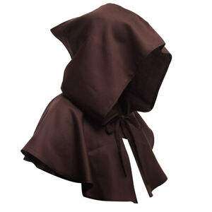 Unisex Renaissance Medieval Witch Knight Hoodie Rope Cape Halloween Costume Prop