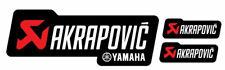 3 Adesivi Stickers AKRAPOVIC YAMAHA Racing resistente al calore