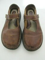 Born Women Mary Jane Brown Leather Flats Slip On Side Strap Shoes Sz 8M