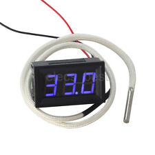 Digital Thermometer Temperature Test Meter Blue Display with K Type Thermocouple