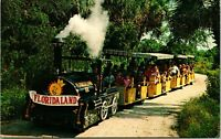 Vtg Postcard 1967 Sarasota Venice Florida FL Floridaland Tour Train Attraction