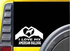 American Bulldog Hands Heart Sticker k089 8 inch dog decal