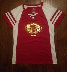 Majestic San Francisco 49ers NFL Fan Fashion Women's Jersey Size Large Red White