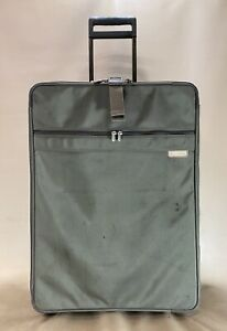 """Briggs & Riley 28"""" Upright Expandable Rolling Suitcase Olive Ballistic Luggage"""