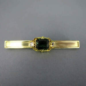 Brooch With Tourmaline And White Sapphires