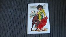 Silk embroidered postcard by Isabel Spain unposted