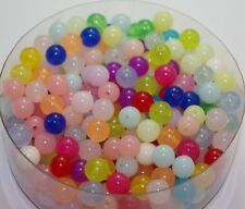 200pcs Mixed color Round Jelly beads Spacer beads Jewelry Accessories 8mm DF839
