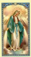 LADY OF GRACE - Laminated  Holy Cards.  QUANTITY 25 CARDS