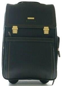 Brooks Brothers Leather Business Travel Trolley Case Carry-On Dark Brown