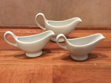 Set Of 3  Mini Gravy Boats Sauce Server Basic White