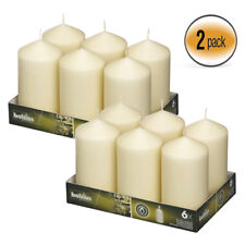 Ivory Pillar Candle 3 X 6 Set of 12, For Party, Wedding, Events Decore & More !