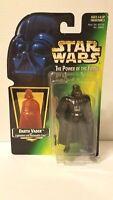 DARTH VADER Action Figure Star Wars POTF Hologram Kenner Green Card NIP