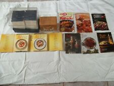 Reduced Lot of Cookbooks, Marguerite Patten's Cards, & Wood recipe Box