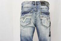 Men's Size 30 Short SALVAGE HAVOC STRAIGHT Denim Jeans - Slim Fit - 30S (30x30)