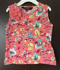 Girls Ted Baker Peach Floral Print Sleeveless T-Shirt Age 12-18 Months