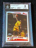 2005-06 LeBron James TOPPS CHROME #102 BGS 8 NM-MT