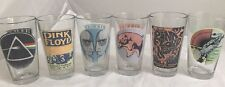 Pink Floyd Concert Pint Glass Tumbler Lot of 6