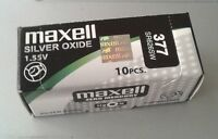 Pila MAXELL 377 - SR626SW - Made In Japan - Original - Caja De 10 Pilas
