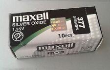 Pila MAXELL 377 - SR626SW - Made In Japan - Original - Caja De 10 Pilas -
