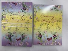 Blue and Purple Floral Letter Paper Stationary Writing Pad X 25 Sheets A5