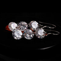 Hot New Fashion Bridal Crystal 925 Sterling Silver Dangle Ear Stud Earring Gift