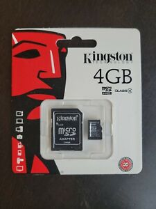 Lot Of 5  4Gb MicroSDHC Class 4 Flash Memory Card With Adapter