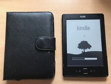 "Kindle 4 - 6"" E Ink Display, Wi-Fi, Black complete with Black PU Leather Wallet"