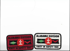 2  ILLINOIS  CENTRAL RR  Patches  ALABAMA DIVIISION  EACH  DIFFERENT
