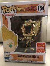 Funko Pop Dragon Ball Z Super Saiyan Vegeta Gold Chrome SDCC 2018 Exclusive new
