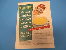 1950 CAMPBELL`S Cream Of Chicken Soup 21 Kinds To Choose From Print Ad PA005