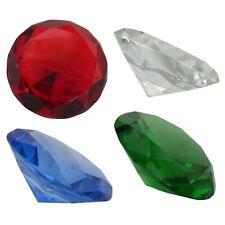 Glasdiamant Dekoration 4- 6 cm Deko Steine Diamanten Glasdiamanten B-Ware