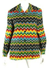 GIORGIO BEVERLY HILLS Vintage Multi-Color Zig-Zag Linen Jacket M