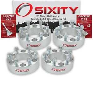 """4pc 2"""" Wheel Spacers for Chevy Blazer C2500 K1500 K2500 Suburban 1500 6x5.5 ti"""
