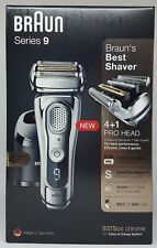 Braun Series 9 9375cc Electric Shaver With Cleaning And Charging Dock New