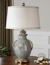 French country table lamps ebay cancello french country tuscan textured blue glaze ceramic table lamp 29h 24683 aloadofball Images
