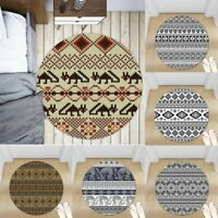 Tribal Symbols Non-slip Round Soft Area Rug Floor Carpet Door Mat Home Decor