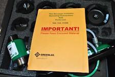 New Greenlee 7310 Sb Ko 555 853 854 855 Hydraulic Knockout Punch Set Case 12 4